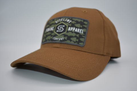 """Multi-Species"" Rust Canvas Patch Hat- Velcro Close"