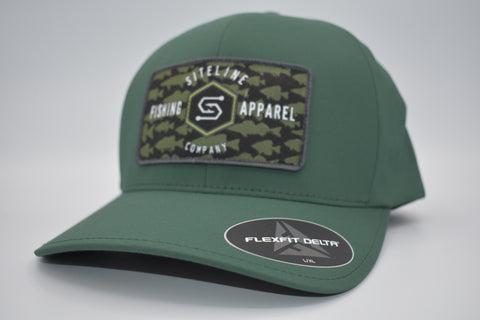 """Multi-Species"" Forest Green Patch Hat- Flex Fit"