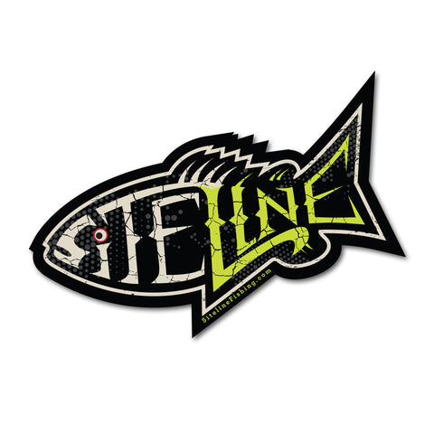 "Large Vinyl Fish Bones Sticker 6""x 3.7"""