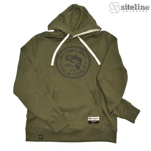 Siteline Fishing Co. Super Soft Hoodie - Heather Green
