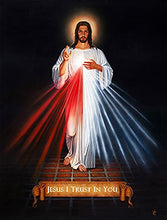 "Load image into Gallery viewer, DIVINE MERCY - Framed Print- 27"" x 38.75"" by Tommy"