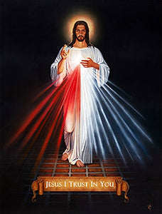 "DIVINE MERCY - Framed Print- 27"" x 38.75"" by Tommy"