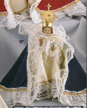 Load image into Gallery viewer, Infant Jesus of Prague: 9 inch Statue with Blue Satin Gown