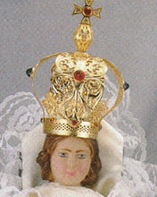 Load image into Gallery viewer, Infant Jesus of Prague:  9 inch Statue with White Satin Gown