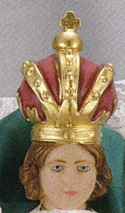 Infant Jesus of Prague: 9 inch Statue with Red Velvet Gown
