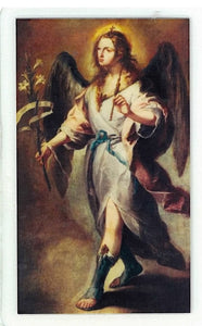 Laminated Prayer Card - San Gabriel Arcangel