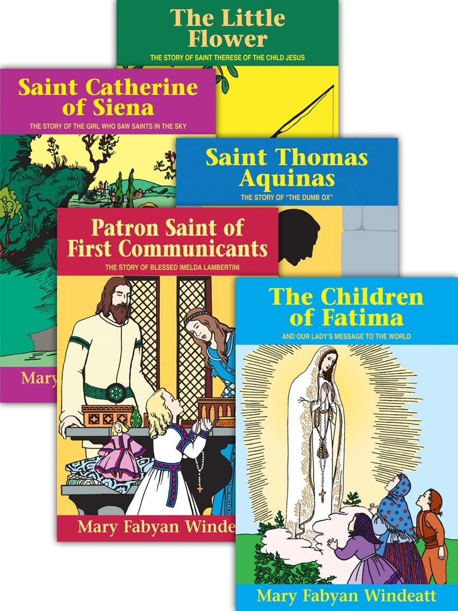 Lives of the Saints by Mary Fabyan Windeat (Set of 5)
