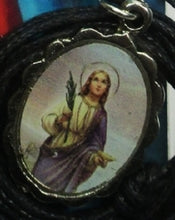 Load image into Gallery viewer, Necklace - Santa Lucia Medal & Holy Card