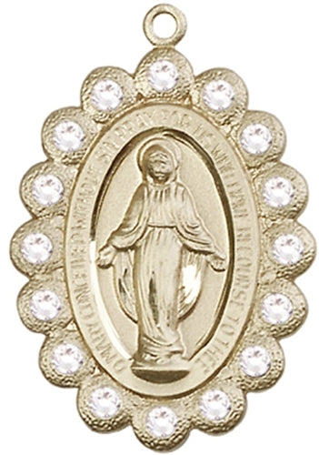 Miraculous Medal - 14kt Gold -   Medal Only