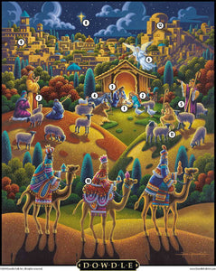 NATIVITY - FOLK ART - PUZZLE - 500 Pieces
