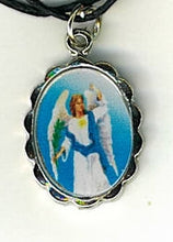 Load image into Gallery viewer, Necklace - San Uriel Arcangel Medal & Holy Card