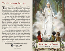 Load image into Gallery viewer, Our Lady of Fatima Prayer Card
