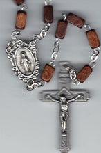 Load image into Gallery viewer, Rosary - Square Wood Beads