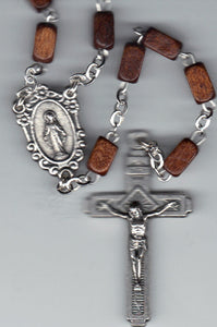 Rosary - Square Wood Beads