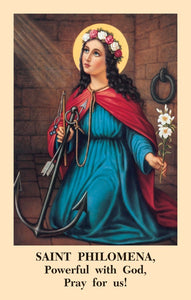 Saint Philomena Novena Prayercard (Pack of 100)
