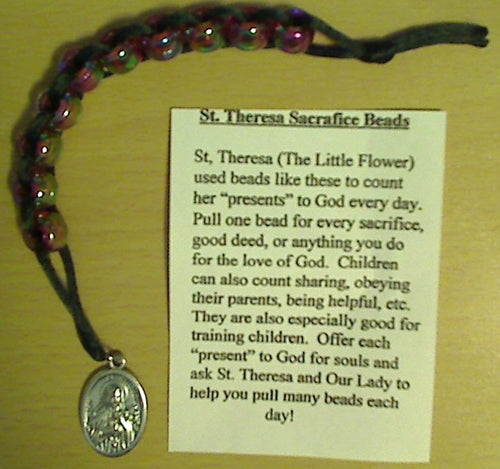 St.Theresa Sacrifice Beads - Plastic Beads