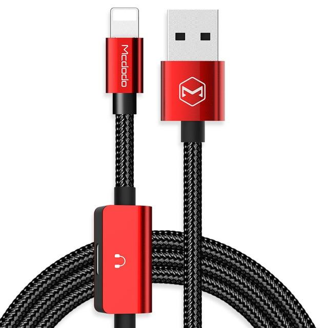 2in1 Aux Charging & Audio for iPhone Otakuzz Red
