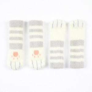 CAT PAW CHAIR SOCKS (4 PACK) The Geek Shop LIGHT GRAY STRIPED