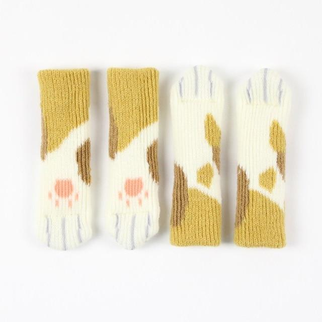 CAT PAW CHAIR SOCKS (4 PACK) The Geek Shop ORANGE SPOTTED