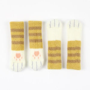 CAT PAW CHAIR SOCKS (4 PACK) The Geek Shop ORANGE STRIPED