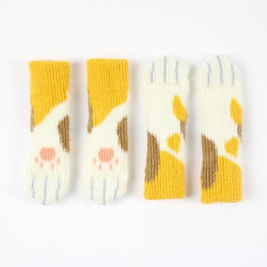CAT PAW CHAIR SOCKS (4 PACK) The Geek Shop YELLOW SPOTTED