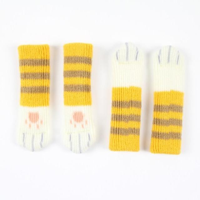CAT PAW CHAIR SOCKS (4 PACK) The Geek Shop YELLOW STRIPED