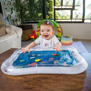 Tummy Time Inflatable Water Mat for Babies The Geek Shop White