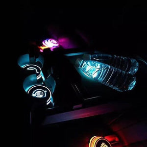 Led Car Logo Cup Lights up Holder USB Charging 7 Colors Changing The Geek Shop
