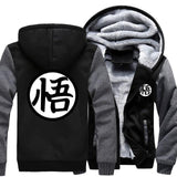 Otakuzz Men Dragon Ball Z Jacket Sweatshirt Streetwear Sportswear Harajuku Jacket Otakuzz dark gray black M