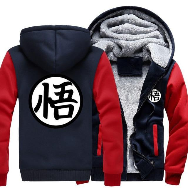 Otakuzz Men Dragon Ball Z Jacket Sweatshirt Streetwear Sportswear Harajuku Jacket Otakuzz red dark blue M