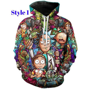 Rick and Morty Full Printed 3D Hoodie Otakuzz