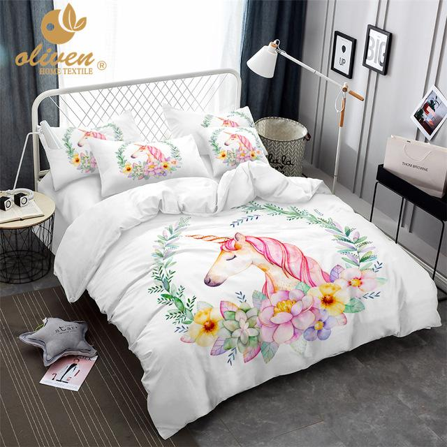 Unicorn Bedding Set for Princess Room 3pcs unicorn The Geek Shop AU Double