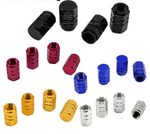 Rounded style Tire Valve Caps 4pcs