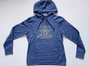 Women's Blue Heather Hoodie with Grey Logo