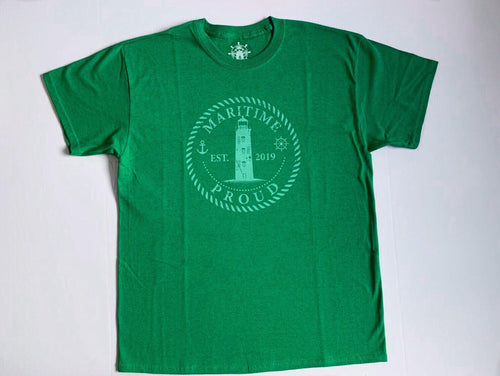 Irish Green Men's T-shirt with Mint Logo