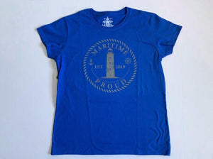 Royal Blue Women's T-shirt with Grey Logo