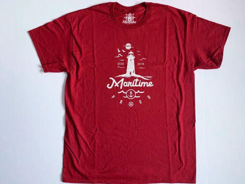 Cardinal Red Men's T-shirt with White Logo