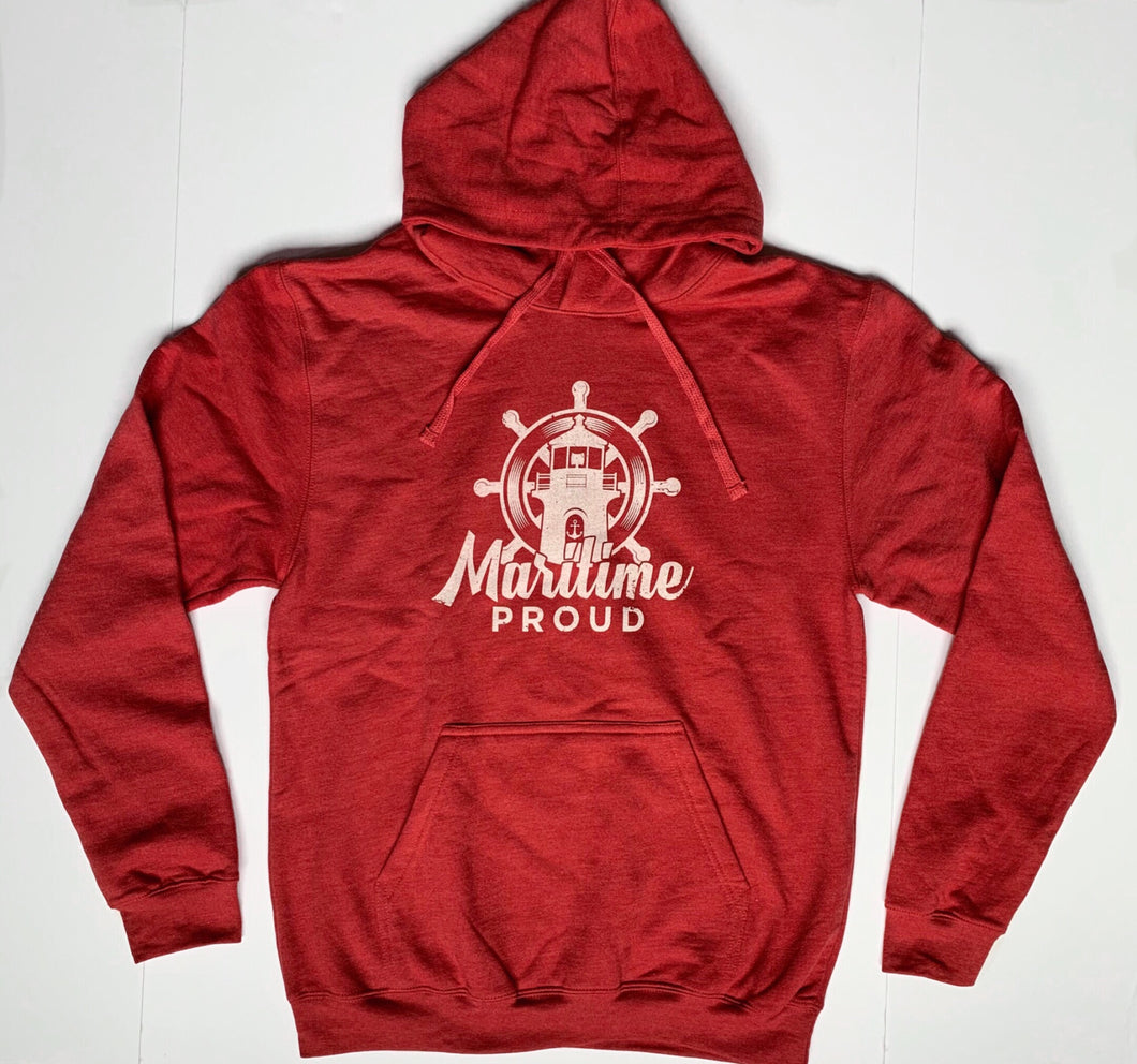 Unisex Red Heather Hoodie