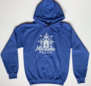 Unisex Heather Blue Hoodie