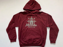 Load image into Gallery viewer, Maroon Unisex Hoodie With Grey Logo