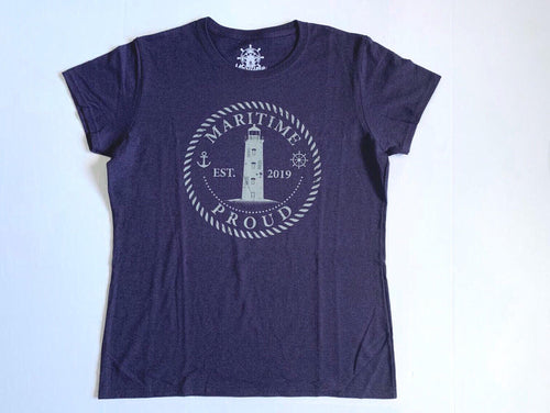 Purple Women's T-shirt with Grey Logo