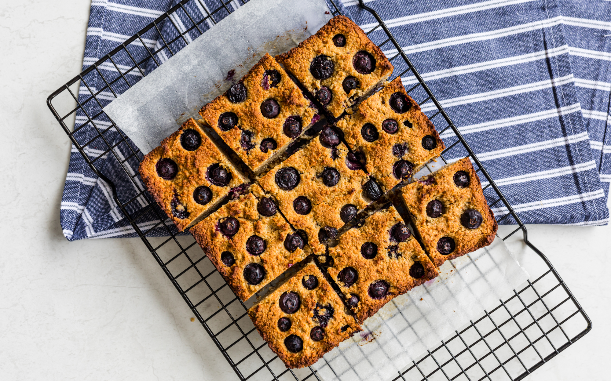 Blueberry blondies
