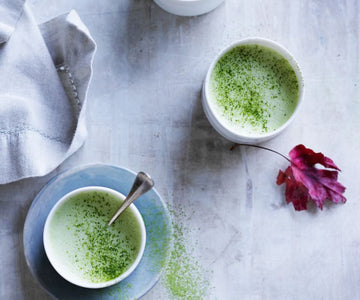 Spiced matcha latte