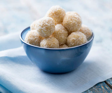 Orange, hazelnut and coconut balls