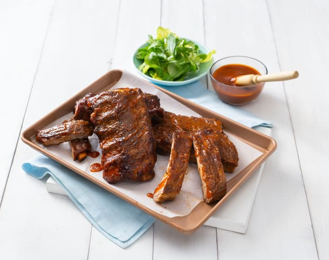 Bourbon pork ribs