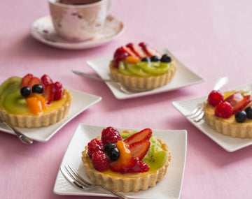 Fresh fruit and cream cheese tarts