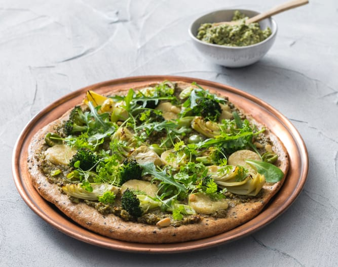 Green goddess pizza