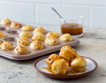 Mini cheese scones with savoury butter