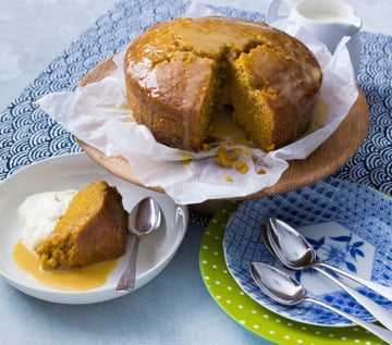 Pumpkin and golden syrup pudding