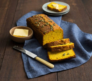 Pumpkin and turmeric loaf